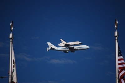Space Shuttle Endeavour airborne for last time